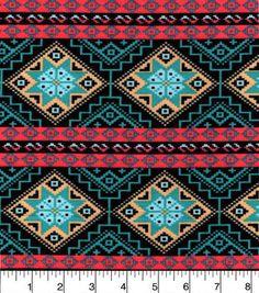 Snuggle Flannel Fabric-Southwestern Aztec Stripe