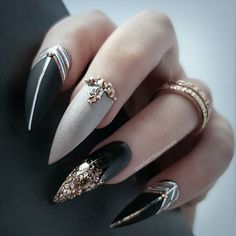 50 Cool Stiletto Nails Designs To Try in 2019 Tips; 50 Cool Stiletto Nails Designs To Try in 2019 Tips; Beautiful Nail Art, Gorgeous Nails, Pretty Nails, Fun Nails, Trendy Nail Art, Cool Nail Art, Acrylic Nail Designs, Nail Art Designs, Nails Design