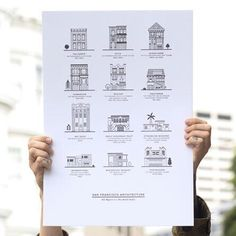 San Francisco Architecture print $35  http://www.thebolditalic.com/shop/products/2nd-edition-san-francisco-architecture-letterpress-print