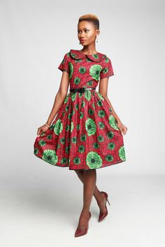 Neema Dress ~African fashion, Ankara, kitenge, African women dresses, African prints, African men's fashion, Nigerian style, Ghanaian fashion ~DKK