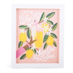 Lemons to Lemonade Art Print