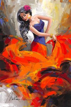 Browse Artwork by Anatoly Metlan Browse Artwork by Anatoly Metlan - Park West Gallery Woman Painting, Painting & Drawing, L'art Du Portrait, Arte Do Kawaii, Dance Paintings, Flamenco Dancers, Dance Art, Beautiful Paintings, Female Art