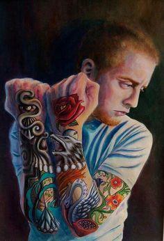 Custom paintings tattoo painting