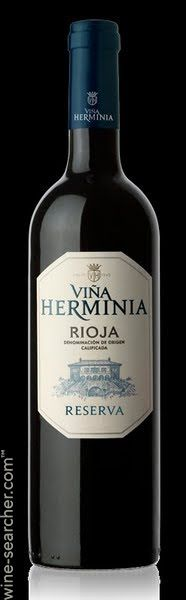 Rioja is an unbeatable value for quality wine, and Vina Herminia Rioja Reserva 2004 delivers on all levels.  At an average retail of $22 per bottle, you get a fully aged, oak-influenced fruit dream of plums and red cherries offset by dry tobacco leaves and mineral grounding.  Just so consistently good at an almost unbelievable price, 100% Tempranillo DOCa.  Gracias, Spain!
