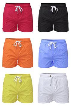 Sports Breathable Beach Shorts for Men: Casual &  Seaside / Loose Pockets / Solid Color