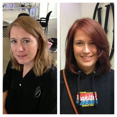 Before and after color and cut. Hair by Jordan Roulst.