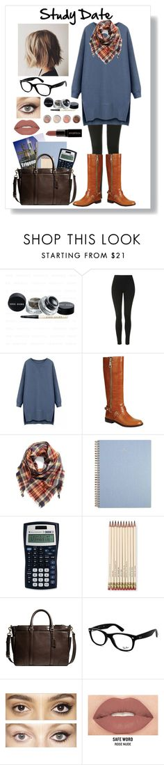 """""""Study Date: Trigonometry"""" by haybeebaby ❤ liked on Polyvore featuring Topshop, Reneeze, BP., Kate Spade, Coach, Ray-Ban, Charlotte Tilbury, Terre Mère and Smashbox"""