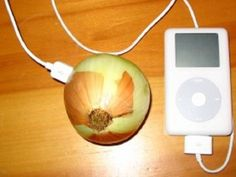 Charge an iPod with an Onion...Science project...ill have to try this