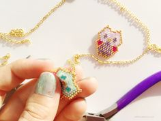 using pliers, create your pendant baby owl