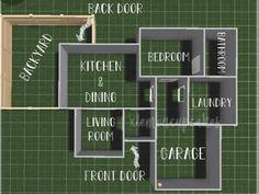 Two Story House Design, Sims 4 House Design, Tiny House Layout, House Layout Plans, Unique House Design, House Layouts, Sims 4 House Plans, Sims 4 House Building, Home Building Design