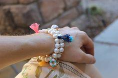 Natural Pearl Tassel Charm Bracelet Summer essential