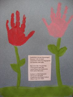 Kiddos handprints.  Great for birthday presents for family members