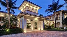 You have arrived. Your guests will feel like they are at a 5-Star resort when arriving at this Grand Porte Cochere at newly-listed 2435 S Ocean Blvd, Highland Beach, FL.  http://luxre.com/r/9dsV