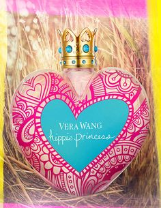 Vera Wang Hippie Princess ~ inspired by bohemian style, colorful prints, flowers in the hair and a free spirit. The composition begins with a mixture of red mango, apple blossom and white freesia. Lotus, jasmine and apricot nectar form the heart of the perfume, laid on the base of blonde woods, vanilla and pink musk.