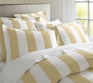 PB Classic Stripe 400-Thread-Count Duvet Cover & Sham - Honeycomb
