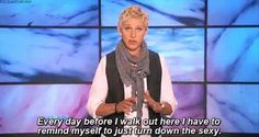 """Go see The Ellen Show! (The 35 Greatest Moments Ever On """"The Ellen Show"""") The Ellen Show, Ellen Degeneress, Haha Funny, Hilarious, Funny Stuff, Funny Things, Farts Funny, Funny Drunk, Funny People"""