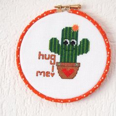 Cuddly cactus cross stitch by AndyGlamasaurus