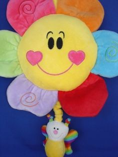 "Plush Baby Happy Flower Pull String Musical Crib Stroller Hanging Toy by Woody Toys. $15.50. This Happy Flower pull-string musical is the perfect choice to a mobile. It attached onto a crib or it can be played with as a toy. It is a cute nursery decor, baby shower gift, and new born baby present. It measures 10"" long for the happy flower ,and 14.5"" long from the top of flower petal to butterfly bottom. Infant safe. Great Gift. Super Saving.. Save 22% Off!"