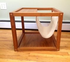 Midcentury Danish Teak Magazine Rack End Table in Catonsville, Baltimore ~ Apartment Therapy Classifieds