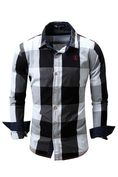 720f6088180 Men s Shirt Long Sleeve Non-Iron Casual Cotton Slim Fit Plaid Printed Male  Tops HIgh Quality New Fashion 2018