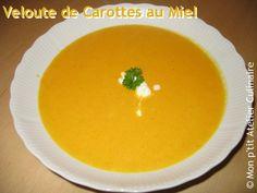 Avec la grisaille aujourd'hui, on avait envie de faire une petite soupe. Sur le forum du « Wunderkessel », j'ai trouvé cette recette pour faire un velouté de carottes étonnante. La petite touche de sucré est vraiment géniale. Velouté de Carottes au Miel...