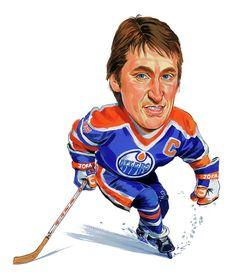 Wayne Gretzky caricature painting