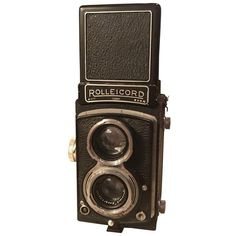 Vintage Rolleicord Camera (1.075 BRL) ❤ liked on Polyvore featuring camera