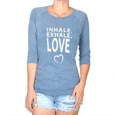 Inhale. Exhale. Love. - Gauze Baseball Tee - One Size