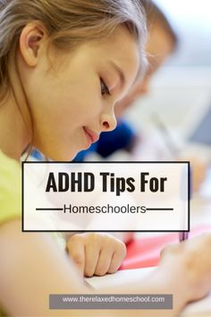 """Here are some great tips for homeschooling a child with ADHD.  """"To recap: Protein for breakfast. Go with the flow. Make it entertaining. Make it rewarding. Background Music."""