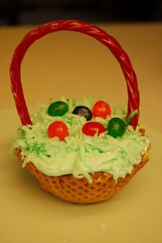 FrannyKate's Creative State: Easter Basket Cupcake