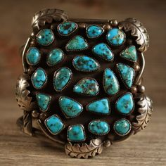 MASSIVE-MUSEUM-QUALITY-VINTAGE-NAVAJO-STERLING-SILVER-TURQUOISE-CUFF-BRACELET Navajo Jewelry, Southwest Jewelry, Western Jewelry, Tribal Jewelry, Turquoise Cuff, Turquoise Jewelry, Turquoise Bracelet, American Indian Jewelry, Handmade Silver