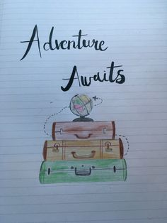 I'm going to not-so-humble brag and show the front page of my new travel journal- I love it!