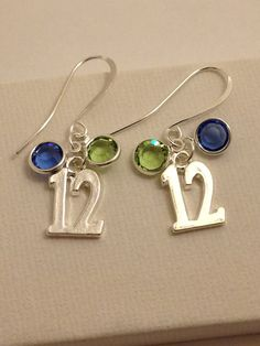Seahawks 12 Earrings