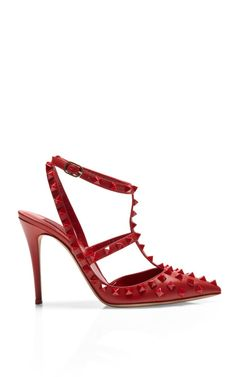 Shop Studded Leather Pumps by Valentino Now Available on Moda Operandi