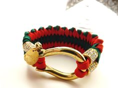 Red and Green Paracord Bracelet