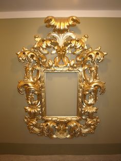 Gilted and Carved Wood Frame. by Haralds Gerts