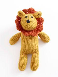 Who doesn't love a little #knit lion? Free pattern!