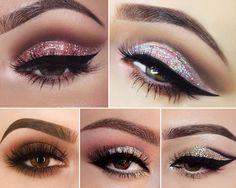 Make com Sombra Glitter/Brilho para Festas e Casamentos