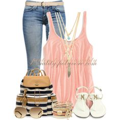 """""""Summer Boardwalk Chic"""" by casuality on Polyvore"""