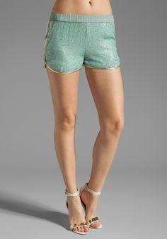 RENZO + KAI Sequin Sport Shorts in Mint