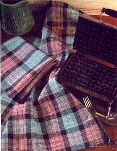 Cotton Clouds Mail Order Yarns: Kit Information Tartan, Plaid, Cotton Towels, Tea Towels, Dish Towels, Yarn Display, Log Cabin Kitchens, Cotton Clouds, Weaving Projects
