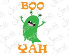 Boo Yah Monster Cut Files Halloween SVG Fall SVG Monster Cute Kids Baby Clipart Svg Dxf Eps Png Silhouette Cricut Cut File Commercial Use by SparkleGraphics16 on Etsy https://www.etsy.com/listing/485820529/boo-yah-monster-cut-files-halloween-svg
