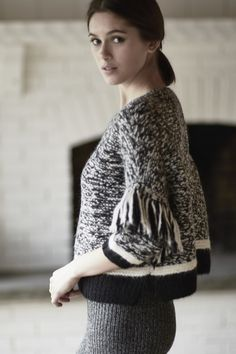 knitGrandeur: ELEVEN SIX Knitwear fashion inspiration detailing for a pattern for cropped jumpers