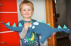 This week I whipped Carter up a big soft toy dinosaur... he loves it- and maybe you might know a little boy (or girl) who might like one too... You will need about 30cm of fleece, a small amount of...