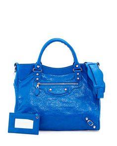 Giant+12+Nickel+Velo+Bag,+Blue+by+Balenciaga+at+Neiman+Marcus.