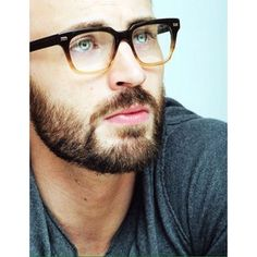 Chris Evans looks like a hunky professor.