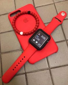 Apple watch in red Apple Inc, Red Apple, Iphone Accessories, Computer Accessories, Smartwatch, Capas Samsung, Iphone 7, Iphone Cases, Apple Watch Iphone