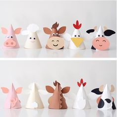 All designs in the Karen Boudreau.inc store are off today! Head over and gra… All designs in the Karen Boudreau.inc store are off today! Head over and grab these animal party hats from our farm party and more. Farm Animal Party, Farm Animal Crafts, Farm Animal Birthday, Animal Crafts For Kids, Farm Birthday, Farm Party, Diy For Kids, Barnyard Party, Farm Animals