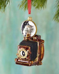 H8GDZ Vintage Camera Christmas Ornament