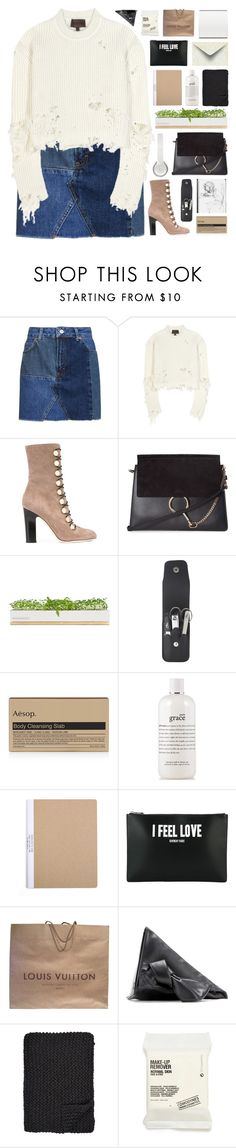 """""""simpple"""" by giulls1 ❤ liked on Polyvore featuring Topshop, adidas Originals, Jimmy Choo, Chloé, Bambeco, Budd Leather, Aesop, philosophy, Givenchy and Louis Vuitton"""